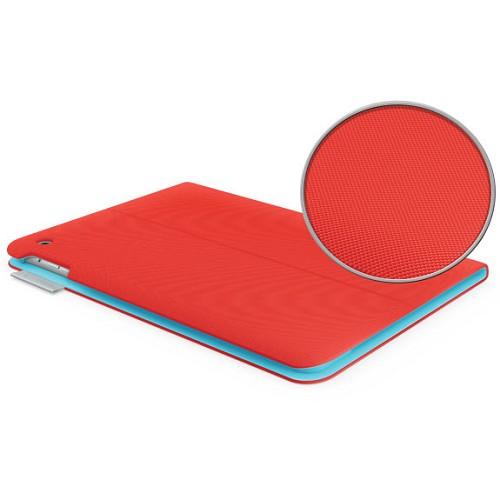 LOGITECH Folio Protective Case for Apple iPad Air [939-000659] - Mars Red Orange - Casing Tablet / Case